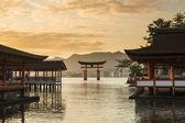 Itsukushima Shrine famous place at Miyajima. Hiroshima. Japan — Stock Photo