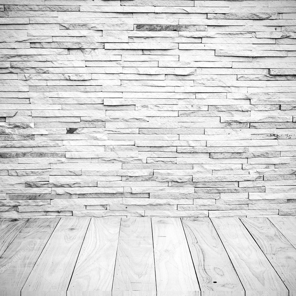 나무 바닥 배경 텍스처와 흰색 타일 벽돌 벽 — 스톡 사진 © 2nix ...