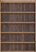 Wood bookshelves vintage retro — Stock Photo