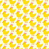 Duck pattern background — Stock Vector