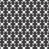 White skull patterns background — Vettoriale Stock