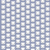 White skull patterns background — Vecteur