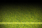 White strips on soccer field — 图库照片
