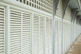 Retro vintage green wood windows asian style. — Стоковое фото