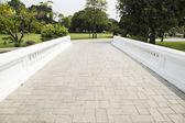 Bridge stone floor in the garden. — Стоковое фото