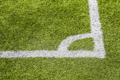 Corner soccer green field background — Stock Photo