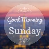 Good Morning Sunday on Eiffle Paris blur background — Stock Photo