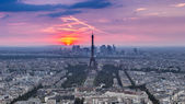 Sunset Eiffle Tower. Paris. France — Stock Photo