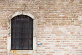 Old vintage window at Venice. Italy — Stock Photo