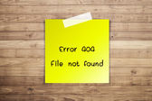 404 Error file not found on Brown wood plank wall texture backgr — Stock Photo