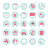 Flat design icons for business internet e-commerce collection set — Stock Vector