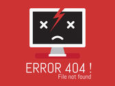 404 Error file not found on website page — Stock Vector