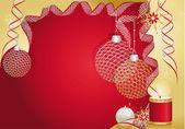 Červená vánoční přání — Stock vektor