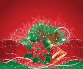 Красный рождественский фон — Cтоковый вектор