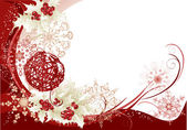 Red christmas frame background — Stock Vector