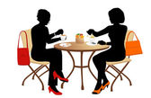 Iki kadın — Stok Vektör