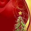 Christmas background with christmas tree — Stock Photo
