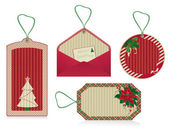 Christmas eco labels red — Stock Photo
