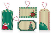 Christmas green labels — Stock Photo
