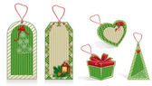 Christmas labels green — ストック写真