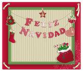 费利斯纳维达圣诞卡片 — 图库照片