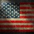 Grunge flag of USA. Horizontal composition — Stock Photo