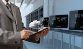 Concetto di server rete cloud — Foto Stock