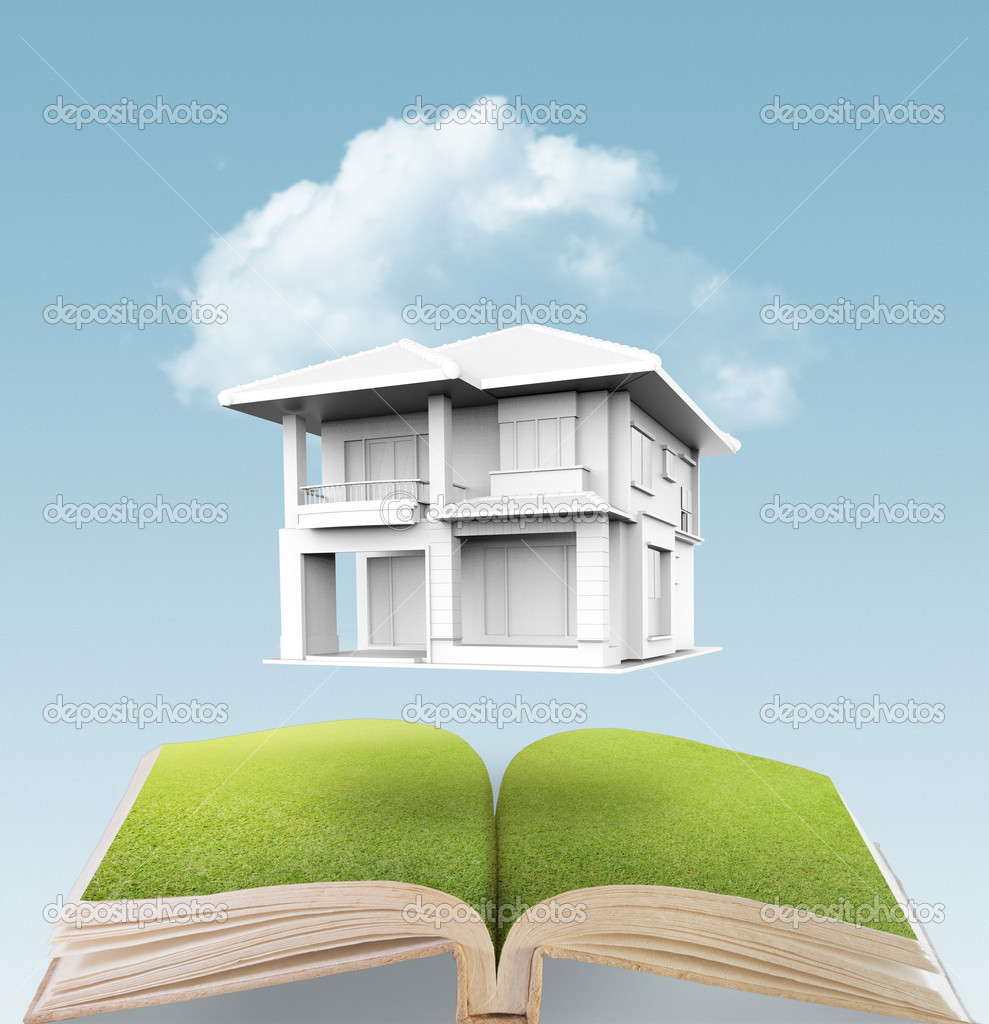 A small house on a sky background — Stock Photo #12934304