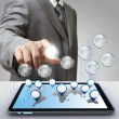 Business success diagram glass icon — Stock Photo