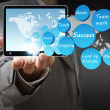Success icon diagram and tablet computer — Stock Photo #12949705