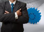 Biznesmen i narzędzi do sukcesu — Zdjęcie stockowe