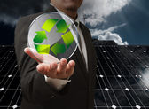 Reciclar energia — Foto Stock