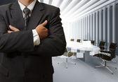 商务男人成功和板房 — 图库照片