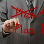 Hand drawing plan a plan b — Stock Photo #12954370