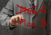 Hand drawing plan a plan b — Stock Photo