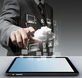 Concetto di rete virtuale di nuvola — Foto Stock