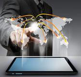 Virtual social network structure diagram — Stock Photo