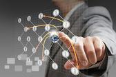 Soziales netzwerk-struktur, elemente aus diesem bild eingerichtet von na — Stockfoto