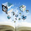 """Open blank book streaming business images""""Elements of this image — Stock Photo"""