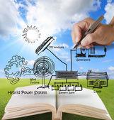 öffnen sie das adressbuch des ingenieurs — Stockfoto