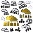 Cloud network pixel icon — Stockfoto
