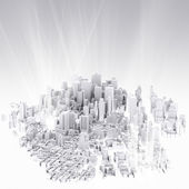 Image of 3d render of city scape — Foto Stock