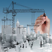 Building development concept — Stock Photo