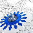 Stock Photo: Cogs as concept