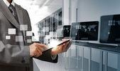 элементы управления компьютерный зал — Стоковое фото
