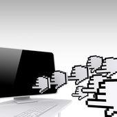 Stronie internetowej ruchu concep — Zdjęcie stockowe