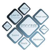 Diagrama de negocios de éxito — Foto de Stock