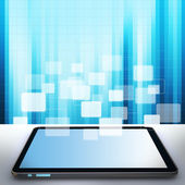 Touch pad concept and buttons background — Stock Photo