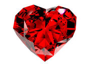 Red diamond 3d — Stock Photo