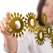 Stock Photo: Gold cogs as concept